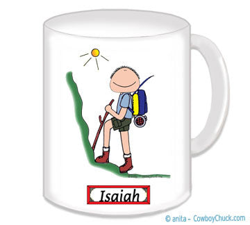 Hiker Mug Personalized Male 8660