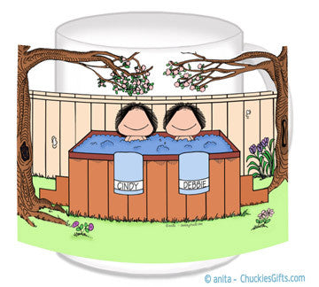 Hot Tub Mug Female and Female - Personalized 8665