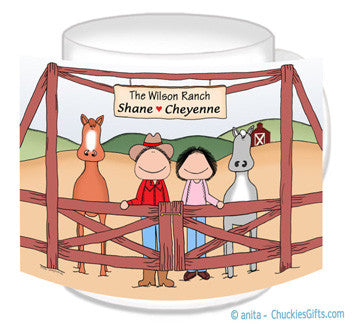 Rancher Couple Mug - Horses - Personalized