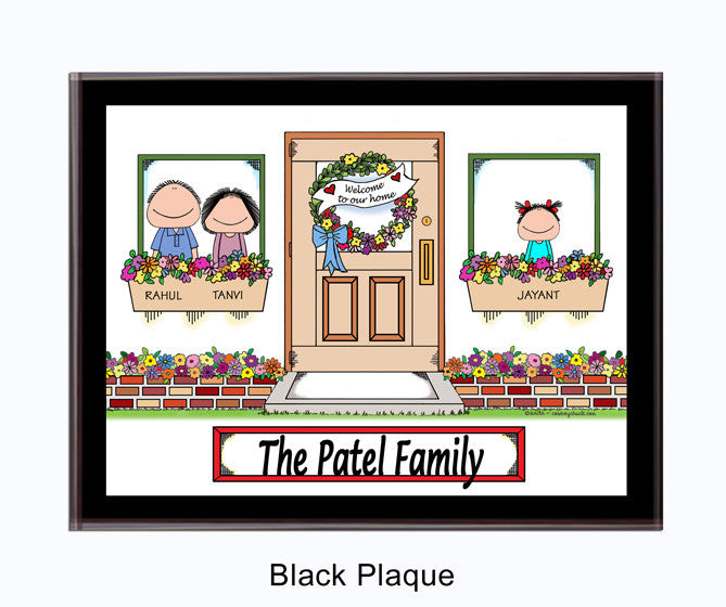 New Home Family Plaque