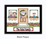 New Home Family Plaque - 1 Kid - Personalized Gift