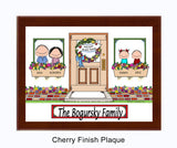 New Home Family Plaque - 2 Kids - Personalized Gift