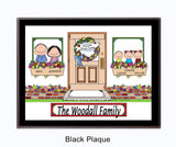 New Home Family Plaque - 3 Kids - Personalized Gift