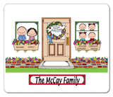 New Home Family Mouse Pad 4 Kids Personalized