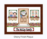 New Home Family Plaque - 4 Kids - Personalized Gift