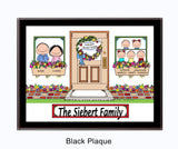 New Home Family Plaque - 5 Kids - Personalized Gift