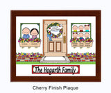 New Home Family Plaque - 6 Kids - Personalized Gift