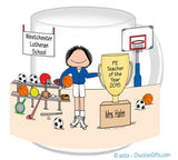 Physical Ed Teacher Mug Female - Personalized