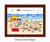 Beach Family Plaque 1 Kid - Personalized