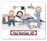 8688 Obstetrician Mouse Pad Male - Personalized