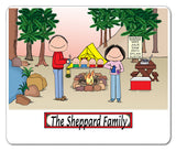 Camping Family Mouse Pad Personalized 4 Kids