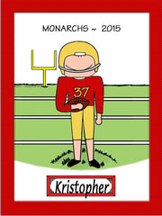 Football Cartoon Picture Male - Personalized 8698