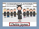 Graduating Class Cartoon Picture Female - Personalized 8715