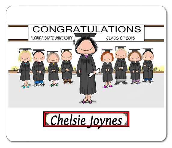 Graduating Class Mouse Pad Female Personalized