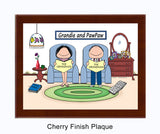 8724 - Baby Boomer Grandparents Plaque Male and Female - Personalized