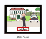 8728 - Funeral Director Plaque Male - Personalized
