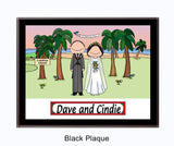 Wedding on the Beach Plaque - Personalized