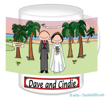 Wedding on the Beach Mug Male and Female - Personalized 8742