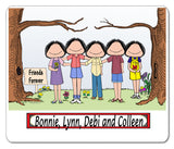 8743 Friends Mouse Pad 5 Females Personalized
