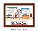 Teacher Music Plaque Female - Personalized