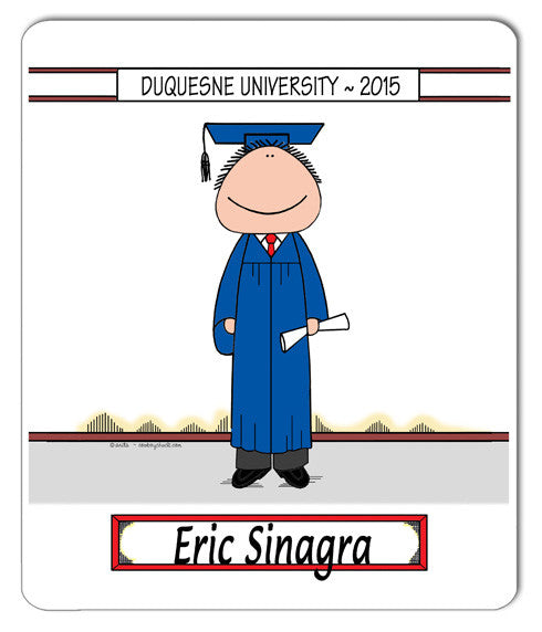 Grad Solo Mouse Pad Male Personalized
