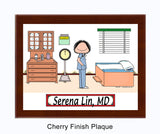 Doctor in Scrubs Plaque Female - Personalized