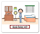 Doctor in Scrubs Mouse PadFemale Personalized
