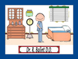 Doctor in Scrubs Cartoon Picture Male - Personalized 8762