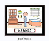 Doctor in Scrubs Plaque Male - Personalized