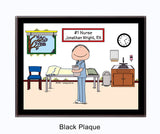 #1 Nurse in Scrubs Plaque Male - Personalized