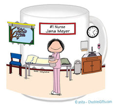 #1 Nurse in Scrubs Mug Female - Personalized 8771