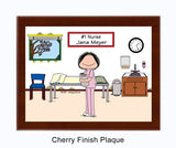 #1 Nurse in Scrubs Plaque Female - Personalized
