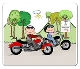 Motorcyclists Mouse Pad Male-Female Personalized