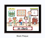 Teacher's Room Plaque Male - Personalized