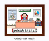 Nutritionist - Dietitian Plaque Female - Personalized 8777