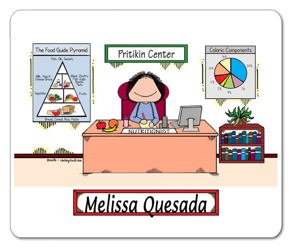 Nutritionist - Dietitian Mouse Pad Female - Personalized 8777