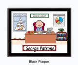 Nutritionist - Dietitian Plaque Male - Personalized 8780