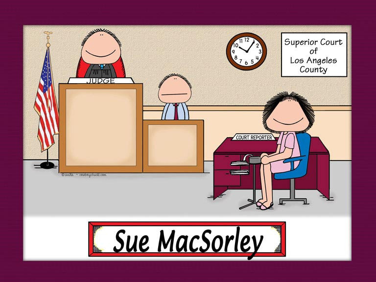 Court Reporter Cartoon Picture