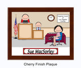 Court Reporter Plaque Female - Personalized
