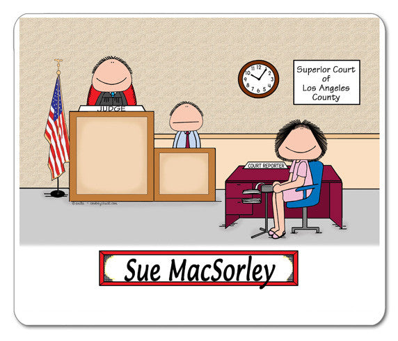 Court Reporter Mouse Pad