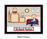 Court Reporter Plaque Male - Personalized