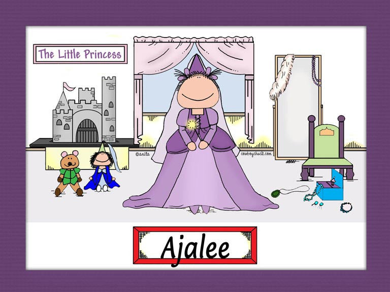 Princess Cartoon Picture Female - Personalized 8793