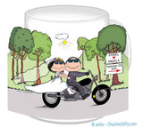 Motorcycle Wedding Mug - Personalized