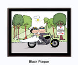 Motorcycle Wedding Couple - Personalized