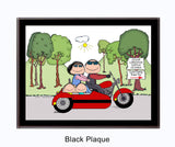 Motorcycle w/side car 2 Kids - Personalized