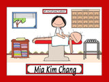 Acupuncturist Cartoon Picture Female - Personalized 8807