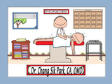 Acupuncturist Cartoon Picture Male - Personalized 8808