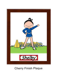 Cheer Girl Plaque Female - Personalized