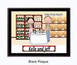 Wine Tasting Plaque Couple - Personalized