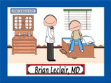 Doctor with Male Patient Cartoon Picture Male - Personalized 8836